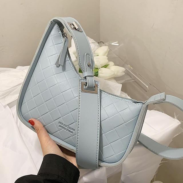 Weave Square Crossbody bag Underarm bag 2021 New Quality PU Leather Women's Designer Handbag Luxury brand Shoulder Messenger Bag