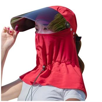Women's Girl All-inclusive Anti-flu Cotton Face Mask Men Boy Quick-Drying Hat Sunscreen Lens Sun Hat  Riding Cycling