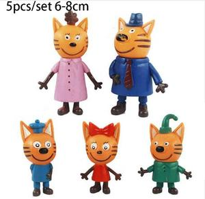 Image 5 - 2019 New Hot 5pcs Happy Three Kitten Russian Action Figure Toy kid Cats e Cat Model Doll Kid Toy Children Christmas Gift