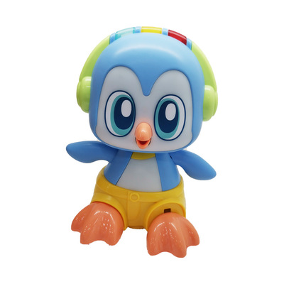 Sound-controlled dancing penguin electric universal wheel will sing and dance and clap, induction animal toys for children