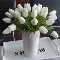 WEIGAO 10pcs Tulip Artificial Flower Real Touch Artificial Bouquet Fake Flower for Wedding Decoration Flowers Home Garden Decor
