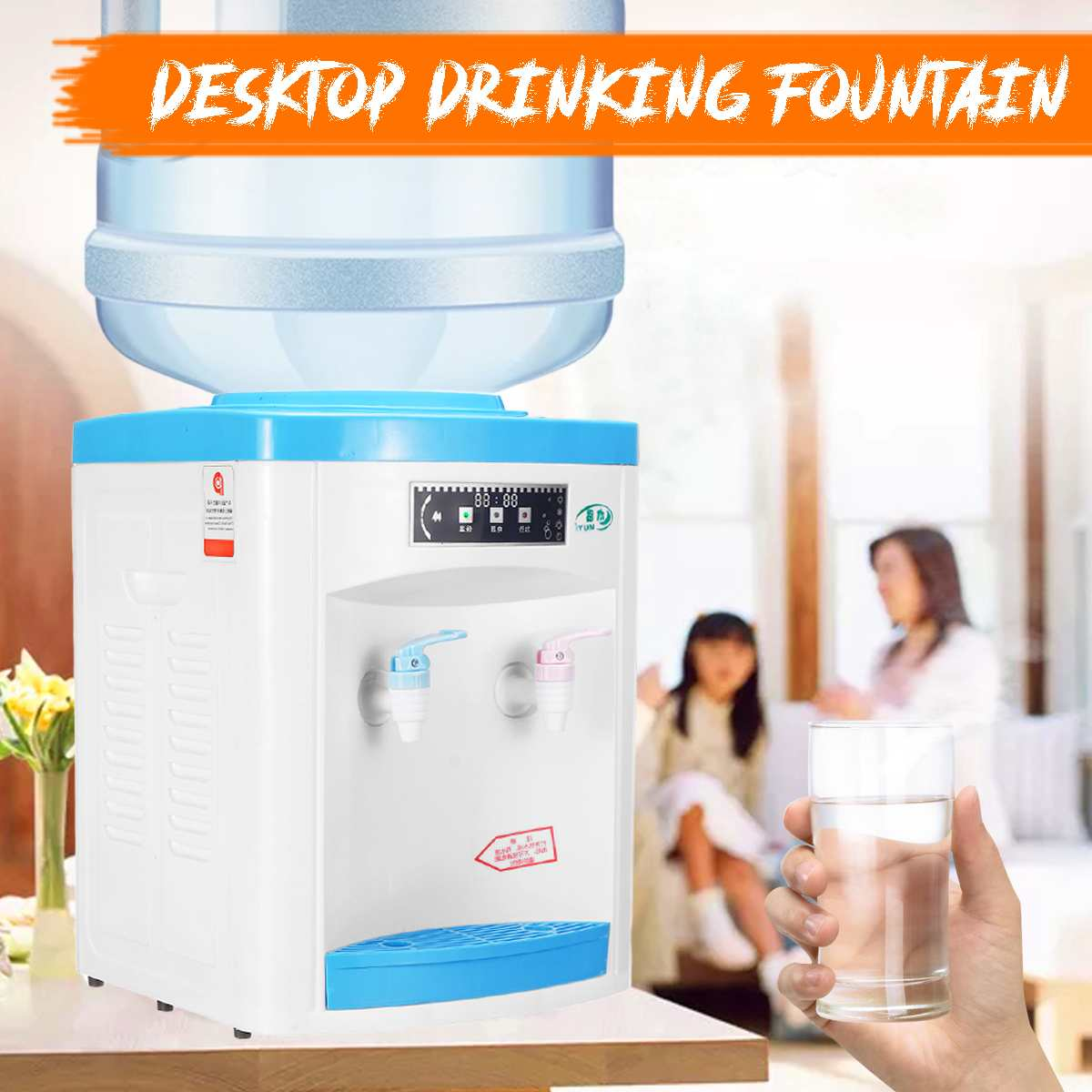 Hot And Cold Desktop Water Dispenser Gallon Drinking Bottle Office Home Fountains Water Holder Press Manual Barrel Watering Pump