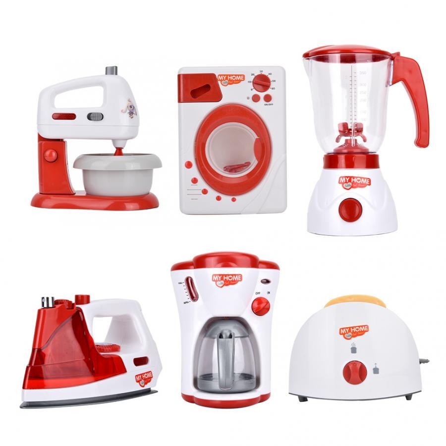 Household Appliances Kids Kitchen Toy Set Blender Children Toaster Vacuum Cleaner Cooker Educational Kitchen Toys For Girls|Kitchen Toys| - AliExpress