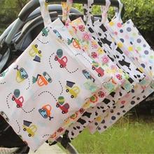 30*40 см мультфильм один карман пеленки мешок водонепроницаемый влажный мешок для детских подгузников