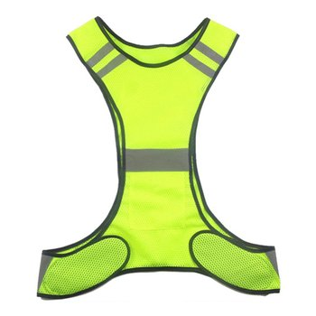 Running High Visibility Reflective Vest Fluorescent Yellow Orange Security Waistcoat For Night Outdoor Running Riding Vests sports safety warning vest fluorescent riding clothes motorcycle reflective vests