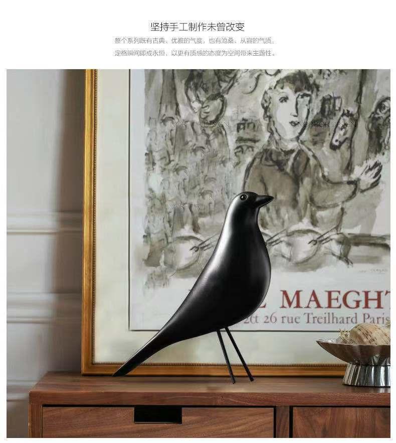 Moderno simples cor preto e branco pássaro