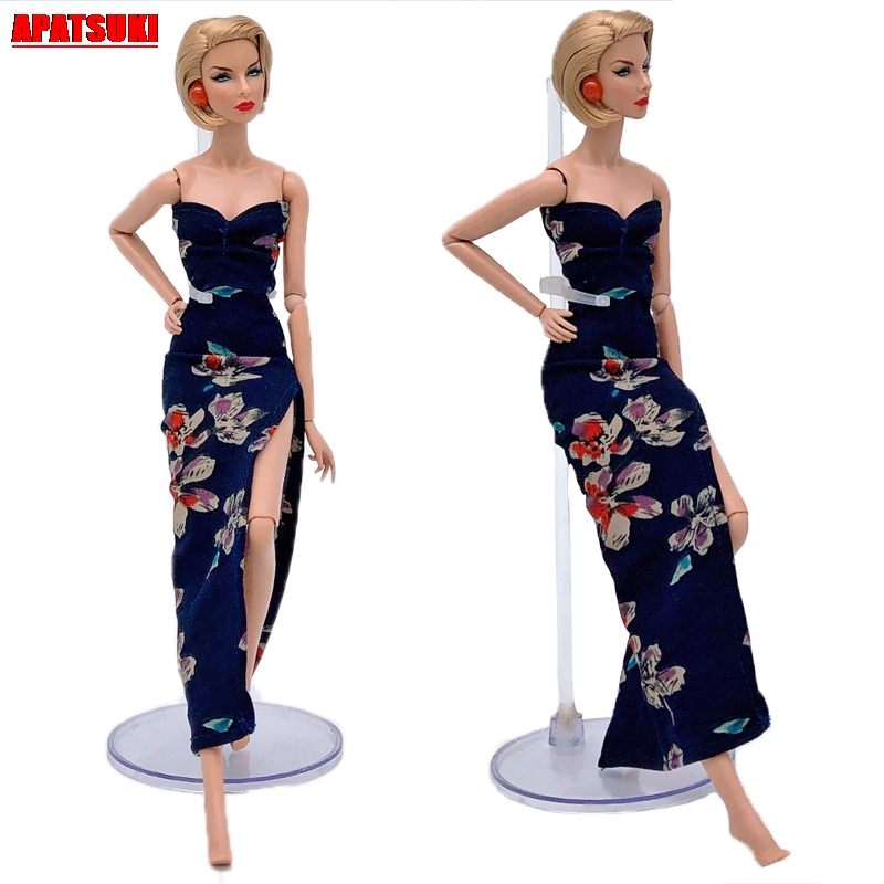 Evening Party Dress For Barbie Floral Dresses For 11.5