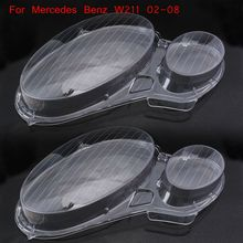 Headlamp Lens for ben z headlight lens cover for Mercedes Benz Clear Car Lens Lamp Cover Lampshade Bright For W211 2002 2008