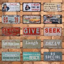 15X30CM Metal Tin Sign Car License Plate Vintage Home Decor Bar Garage Decorative Signs Retro Plaque