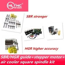 Frete grátis guia linear hgr15/hgr20/sbr16/sbr20 + parafuso da esfera sfu1605/1610 + nema23 stepper kit motor eixo para cnc roteador