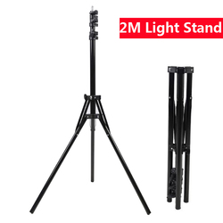 2M Photography Light Stand Max Load to 5KG Tripod Stand for Photo Studio Softbox Video Flash Reflector Lighting Background Stand
