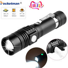 6200LM Super Bright Led flashlight USB linterna led torch T6/L2/V6 Power Tips Zoomable Bicycle Light 18650 Rechargeable(China)