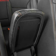 BJMYCYY For VW Volkswagen Golf 7 MK7 2013-2017 PU leather Car Armrest Box Cover Car Accessories bjmycyy free shipping car trunk handle metal light box for vw volkswagen golf mk7 2014