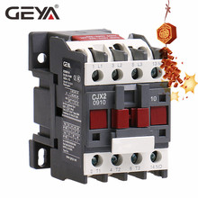 цена на GEYA CJX2-0910 Din Rail Magnetic Contactor 220V or 380VAC Contactor 3Phase  LC1D-09 Electric Contactor Telemecanique