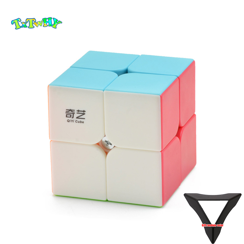 - 2x2x2 Puzzles Toys Qiyi Qidi Speed Cube 2x2- Smooth Bright-Light Sticker Classic Colors The Most Educational Toy to Effectively Improve Childs Concentration and responsiveness.