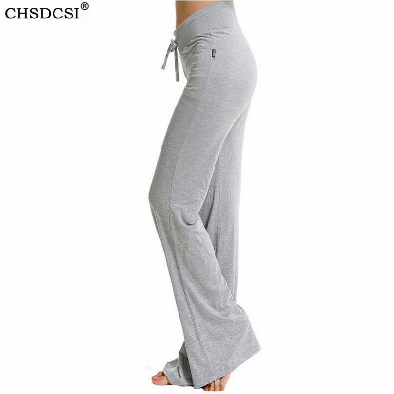 CHSDCSI Sexy Mid Waist Wide Leg Flowy Pants Women 2019 Female Trousers Casual Womens Summer Cotton Beach Long Loose Harem Pants