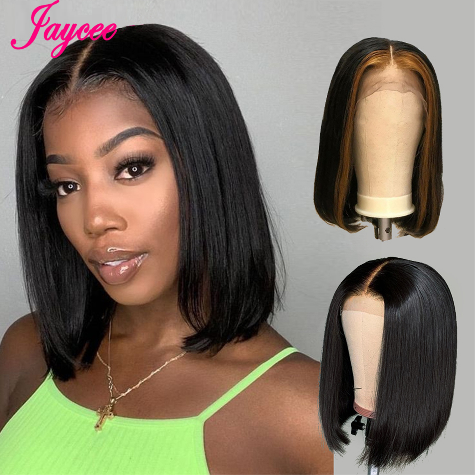 13x4 Short Bob Wigs Lace Front Human Hair Wig For Black Women Pre Plucked Hairline With Baby Hairs Brazilian Remy Hair 150%
