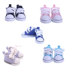 5 Cm Doll Shoes Accessories Denim Canvas Mini Toy Shoes1/6 Sneackers For Handmade Doll Lovely