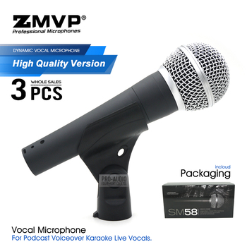 3pcs High Quality SM58LC Wired Microphone Professional Legendary SM 58 Dynamic Handheld Mic For Live Vocals Studio Stage Karaoke