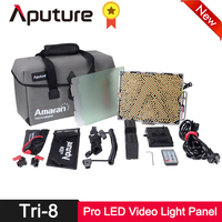 Aputure Amaran Tri 8c LED Video Light Panel CRI 95+ 2300 6800K Wireless Control Batteries EZ Box Studio Photography Lighting Kit