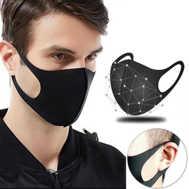 1/3/5/10 Pcs Black Mouth Mask Reusable Dust Mask Washable Mascarillas Face Shield Masque Foggy Haze Mask Mundschutz Unisex 1
