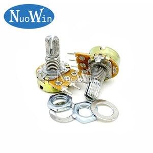 2pcs WH148 B1K B2K B5K B10K B20K B50K B100K B500K 3Pin 15mm Shaft Amplifier Dual Stereo Potentiometer 1K 5K 10K 50K 100K 500K 1M
