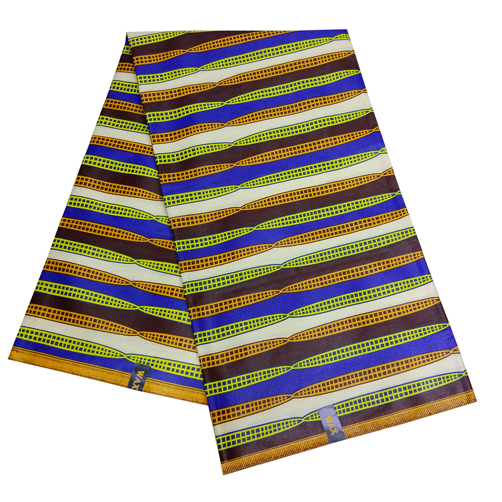 African Wax Fabric Stripe Colorful Print Dutch Wax Fabric