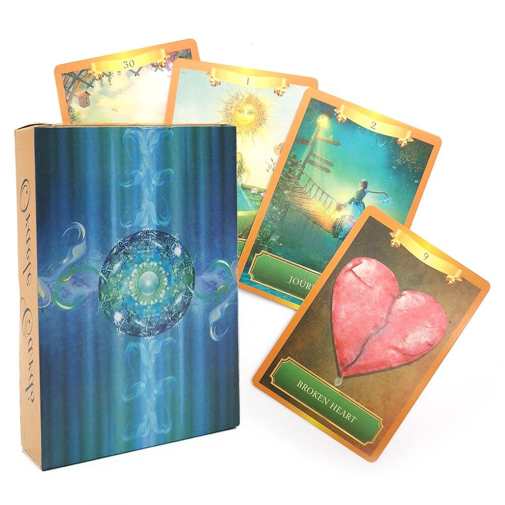 Energia oracle tarô cartões versão inglês baralho tarô jogos de tabuleiro jogo de mesa de jogo adivinhação destino entretenimento