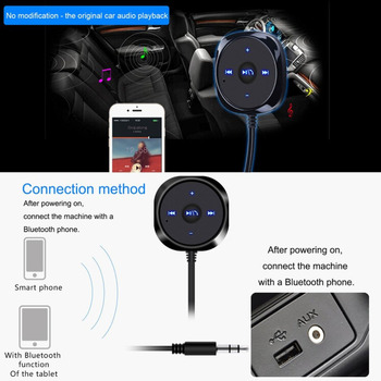 цена на USB2.0 Bluetooth Wireless Car Adapter Kit Hands-free Talking Car Audio Receiver Built-In Mic Music Controller Stereo Sound