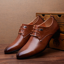 Merkmak Men Leather Shoes Man Business Dress Classic Style F