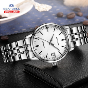 Image 5 - 2020 Seagull Mens and Womens Watches Business Automatic Mechanical Steel Band Calendar Waterproof Simple Fashion Watch 816.362