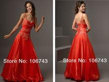 Женское платье подружки невесты красное ТРАПЕЦИЕВИДНОЕ для выпускного