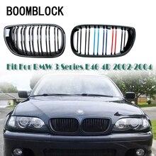 Производительность передний бампер автомобиля гонки почек решетки Замена решетки для BMW E46 BMW 3 серии 2002 2003 2004 4 двери 4D E39