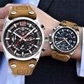 Мужские часы Benyar Топ бренд класса люкс водонепроницаемые хронограф кожаные часы Мужские кварцевые часы мужские спортивные наручные часы ...