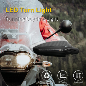 Image 2 - אופנוע Handguards מוטוקרוס פחמן 22mm 7/8 LED להפוך אות נופל הגנה בור אופני אנדורו יד מגיני עבור סוזוקי