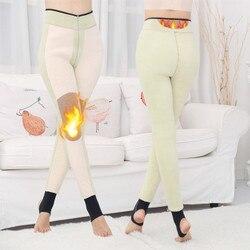 Makuluya 800g Graphene heizung Super Warm Verdickung Samt Leggings Dicker Ähnliche Haut Frauen Hohe Taille Sex Bein Leggings L6
