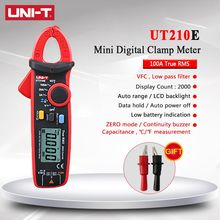 Clamp Meter Digital Multimeter UNI-T UNI T UT210E True RMS AC DC Capacitance Mini Tester Auto Range VFC Capacitance Multimetro