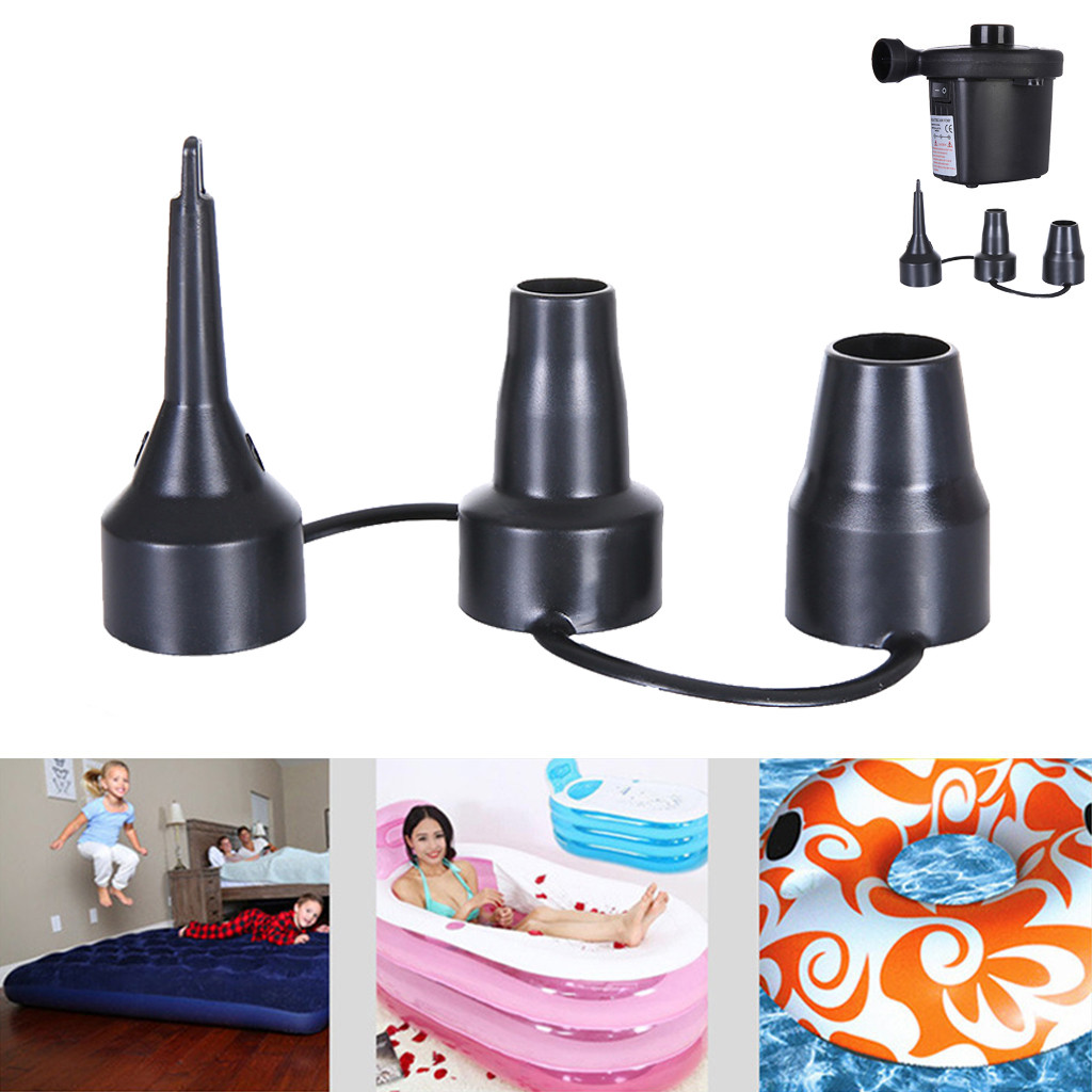 Inflatable Nozzle Pump Nozzle Head Inflator Adaptor Replacement Nozzles 3 Sizes