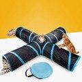 Aapet 1pc brinquedo do gato do animal de estimação pequeno túnel do animal de estimação com 5 furos jogar tubos gato teaser brinquedo interativo gatinho túnel tubos cachorro suprimentos