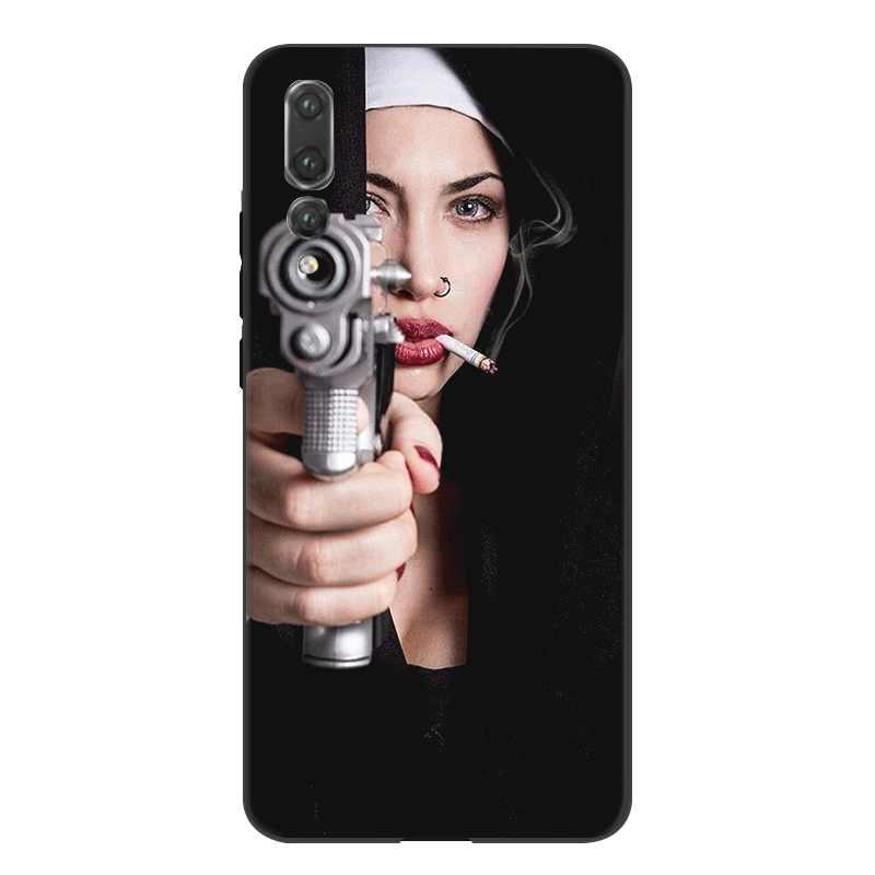 Чехол для мобильного телефона huawei Y5 Y6 Y7 Y9 mate 10 20 Pro Nova 2i 3 3i 4 5i Lite Cover Funny Sister Nun сексуальная девушка оболочка