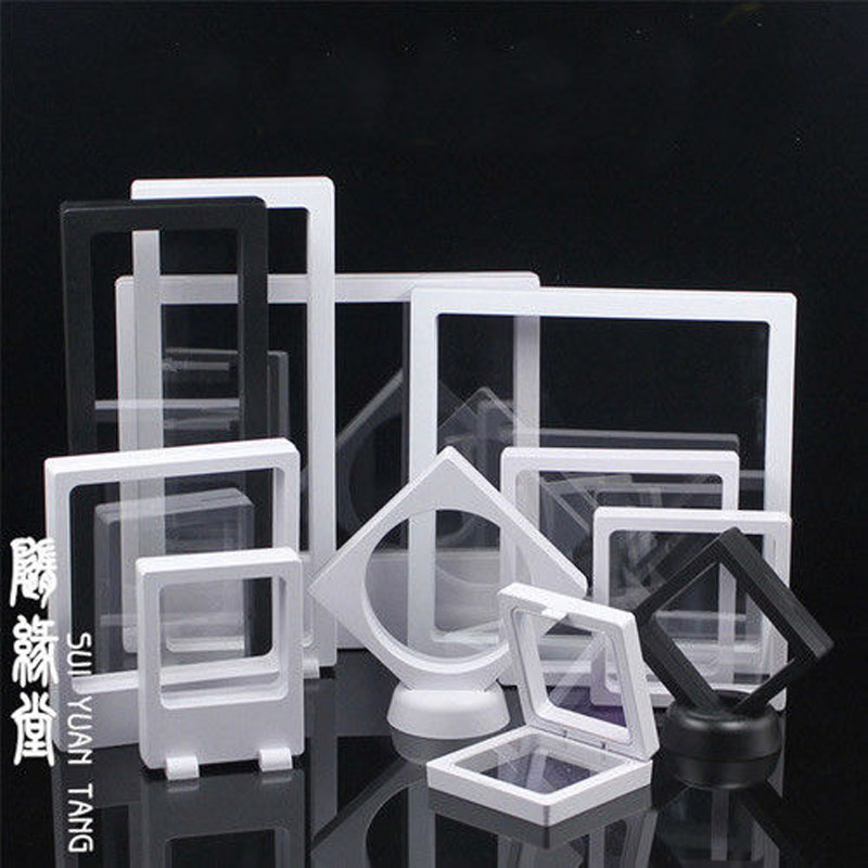 Clear Frame Earrings Necklace Ring Pendant Bracelet Jewelry Display Stand Tray Tree Storage jewelry Organizer Holder