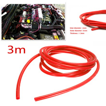 Красный 5 мм Внутренний Автомобильный Универсальный силиконовый вакуумный шланг газовый топливный трубопровод труба ID для автомобиля мотоцикла вакуумный шланг легко установить
