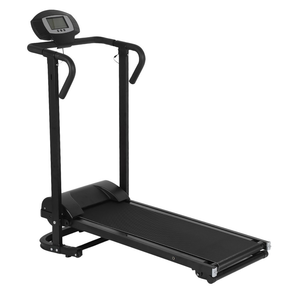 Household Mechanical Treadmill With LCD Display Low Noise Walking Machine Foldable Home Trainer Fitness Equipment