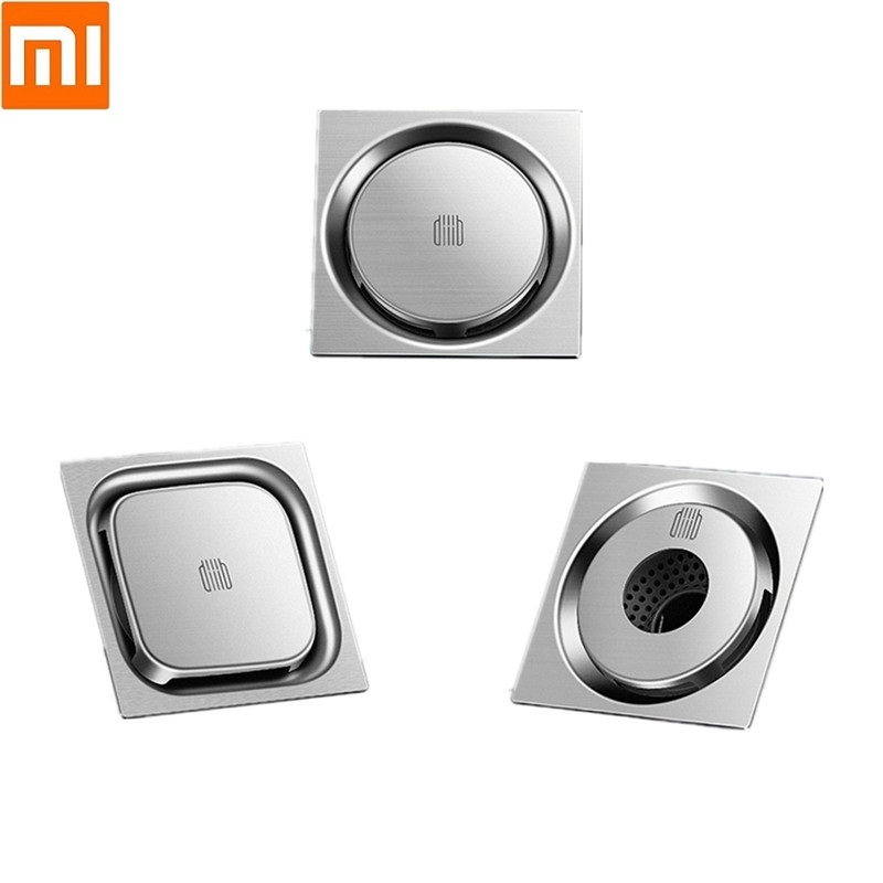 Xiaomi Diiib Deodorant Insect Proof Washing Machine Floor Drain Bathroom Kitchen 304 Stainless Steel Large Filter Drain