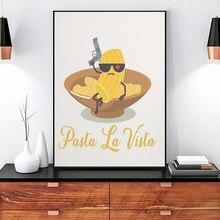Pósteres nórdico abstracto de Pasta La Vista para cocina, pintura de lienzo de impresión artística, imágenes minimalistas modernas, decoración para comedor