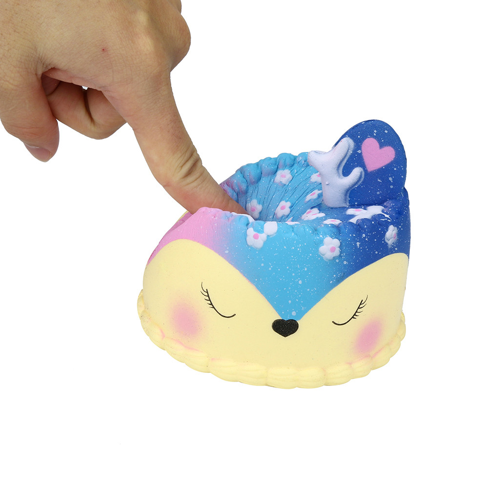 Galaxy Jumbo Deer Cake Slow Rising Scented Squeeze Stress Relief Toy Collection Kids Toys Toys For Children Squishy Toy Juguetes enlarge