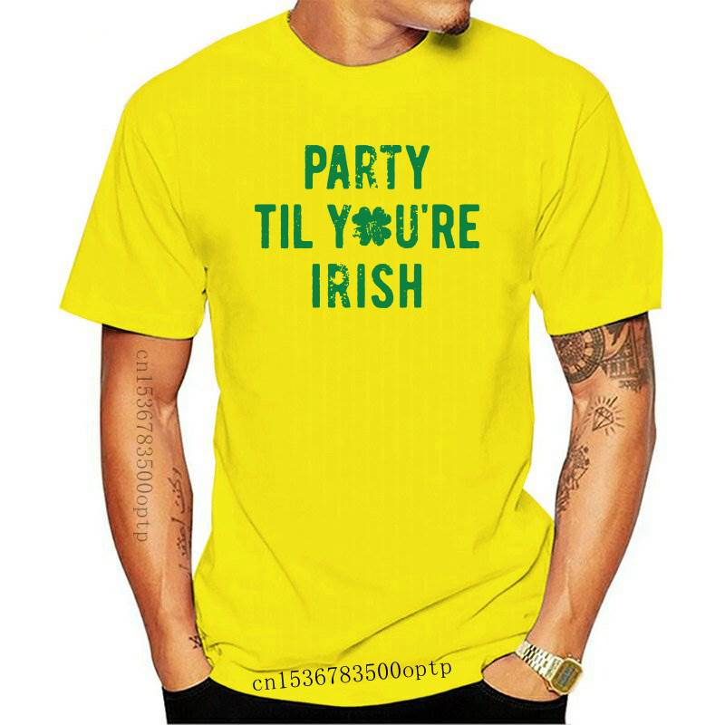 Womens Party Til Youre Irish T Shirt Funny Saint Patricks Day Cool Drinking Tee