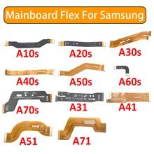 50Pcsเมนบอร์ดสำหรับSamsung Galaxy A10S A20S A21S A30S A40S A50S A60S A70S A31 A41 A51 A71บอร์ดหลักสายเชื่อมต่อ