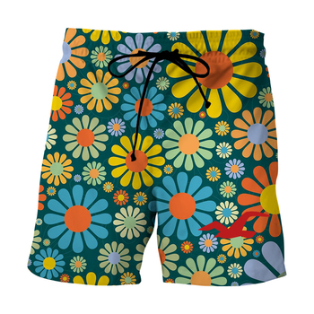 Plus Size Swimwear Daisy Print Men Swim Shorts Swimming Trunks 2020 New Summer Swimsuit Man Beach Wear Bermuda Shorts Bryczesy цена 2017
