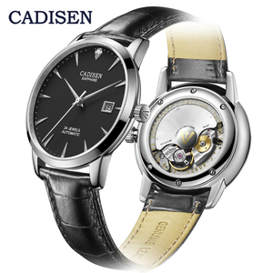 Image 3 - CADISEN Ultra thin Simple Classic Men Mechanical Watches Business MIYOTA 9015 Watch Luxury Brand Genuine Leather Automatic Watch